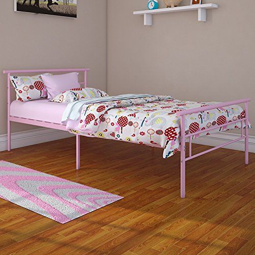 rack furniture seattle twin metal bed frame great for kids pink 5995 - Bed Frames Seattle