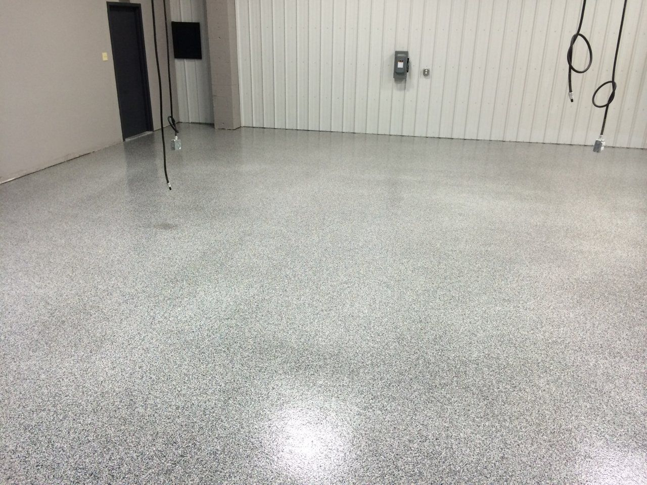 Decorative and Durable Commercial Flake Flooring in Conway, Arkansas.