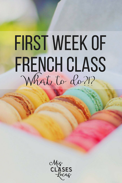 First Week of French Class