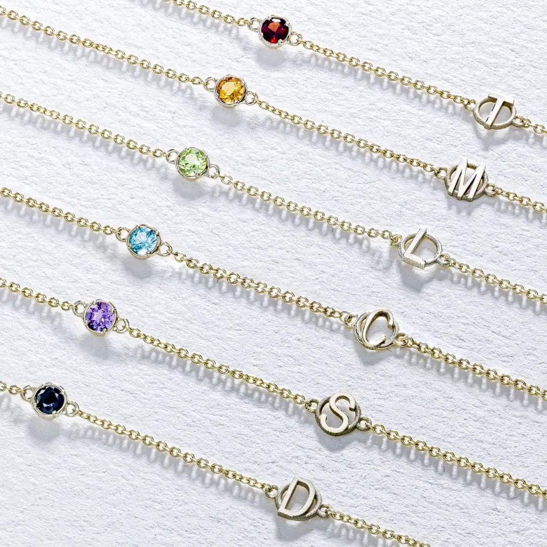 Choose Your Gemstone Choose Your Monogram Make It Yours With A Personalized Bracelet From The Tacori Monogram Bracelet Fashion Jewelry Delicate Bracelet