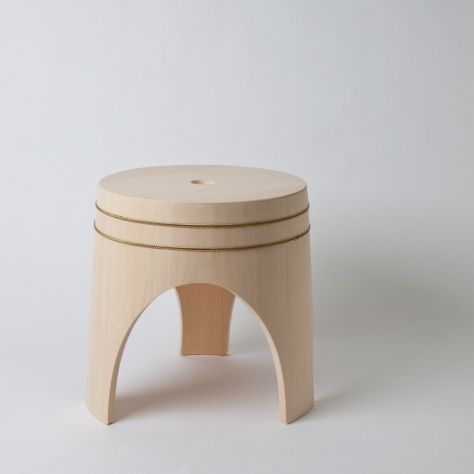 Hinoki Craft bath stool. A bath stool designed in collaboration ...