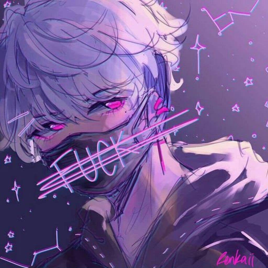 Icons Girl Anime Purple Pesquisa Google Aesthetic Anime Cute Anime Boy Anime Boy