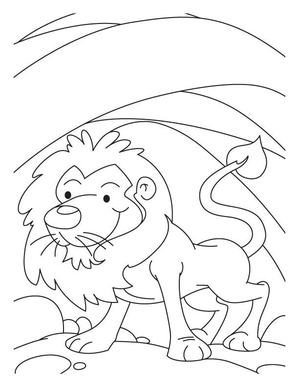 A Lion In Den Coloring Pages Coloring Pages Color Coloring