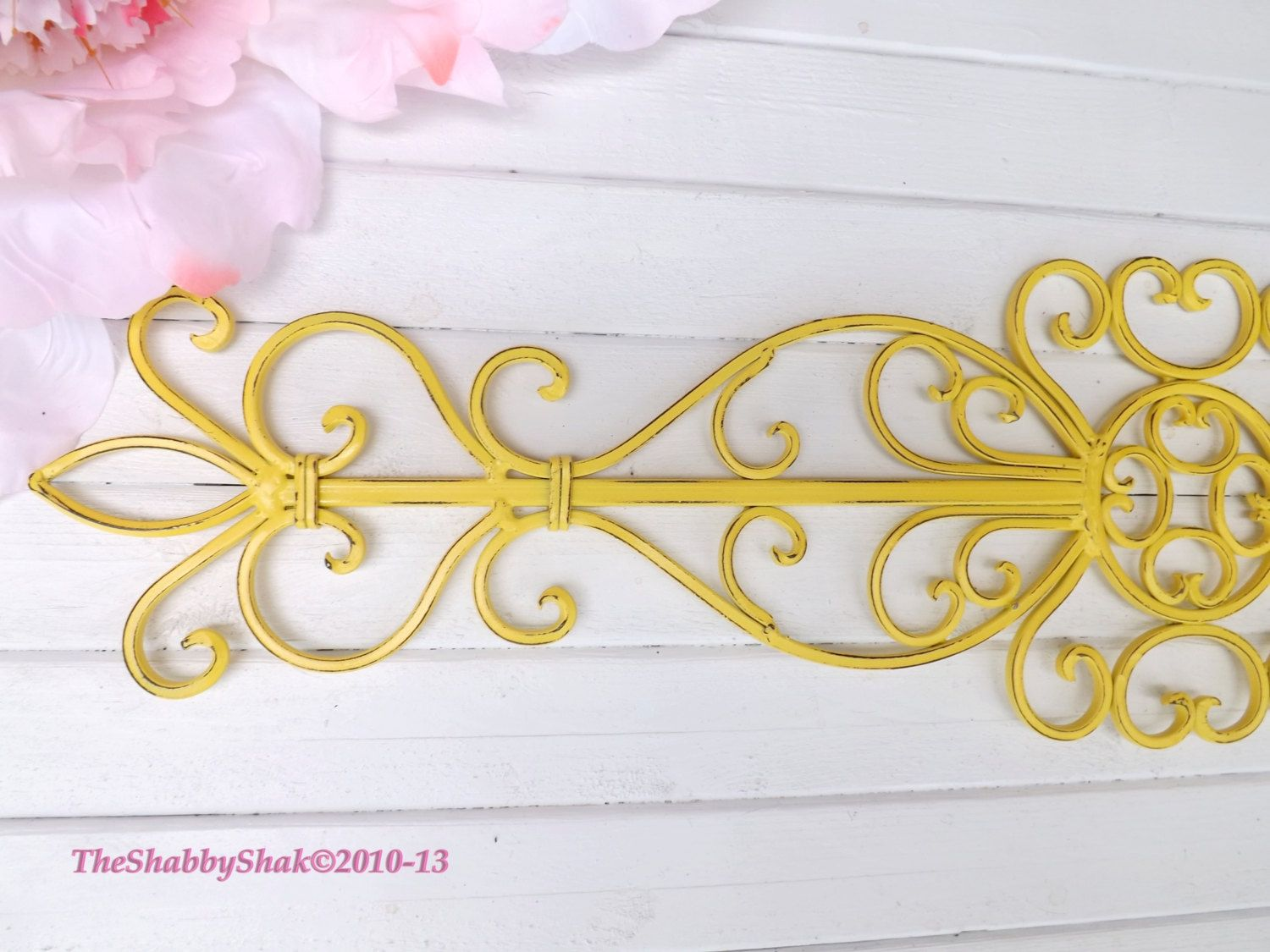 Wrought Iron Wall Hanging / Ornate Wall Decor by Theshabbyshak ...