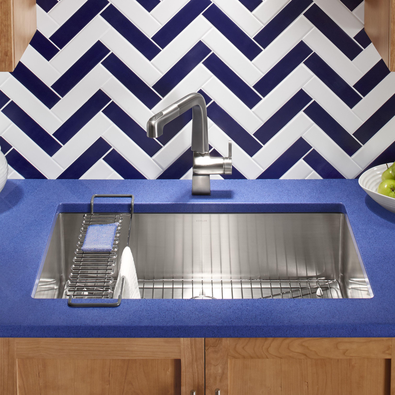 Elegant Found It At Wayfair   Strive X X Under Mount Single Bowl Kitchen Sink With Basin  Rack