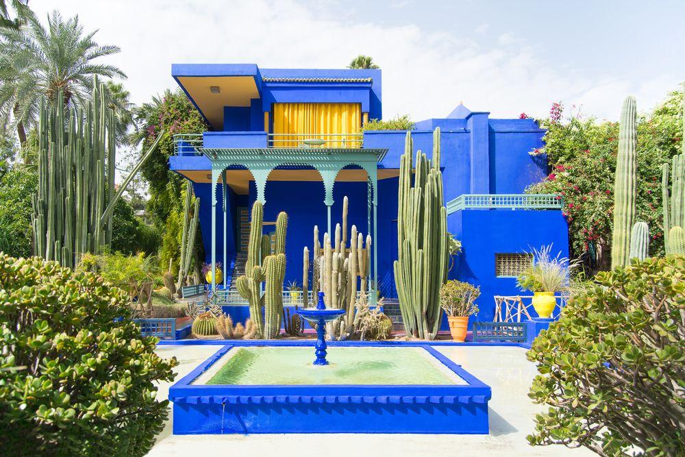 Jardín Majorelle de Ives Saint Laurent's en Marrakech.