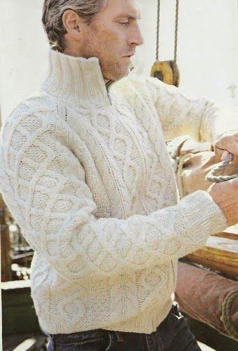 Patrón #119: Suéter Hombre a Dos Agujas #crochet http://blgs.co ...