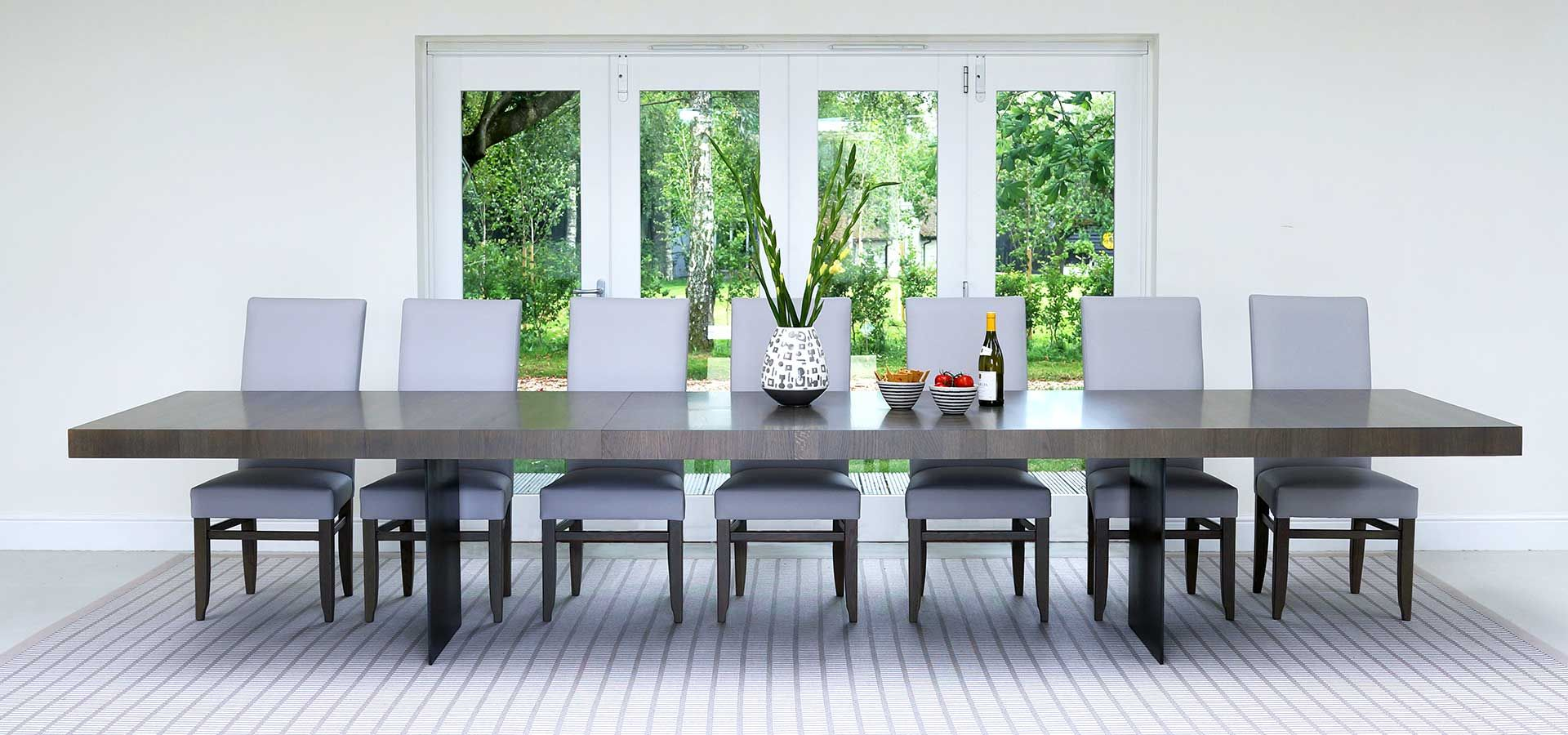 Extra Large And Wide Contemporary Dining Tables By Berrydesign Large Dining Room Table Large Dining Table Contemporary Dining Room Tables