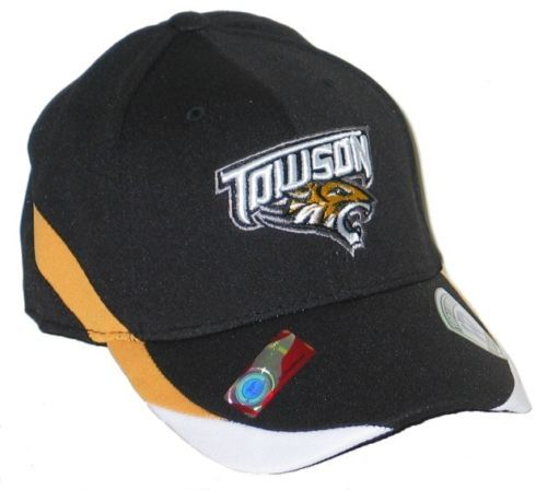 Towson University Tigers Black Back Nine Flex Fit Fitted