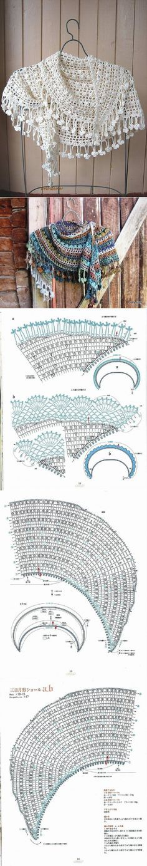 mizrah.ru | Patrones crochet | Pinterest | Chal, Ganchillo y Tejido