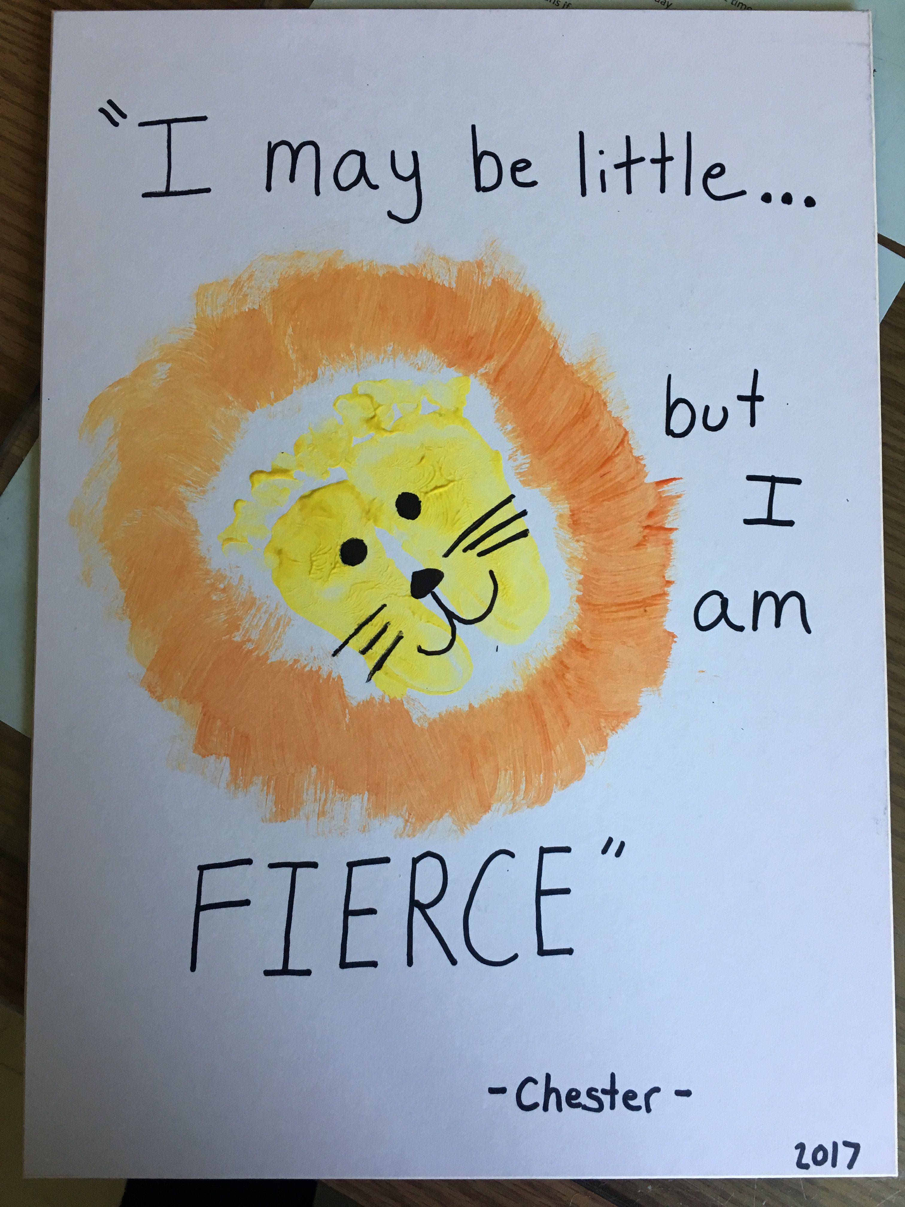 Infant Lion Craft Baby Art Projects