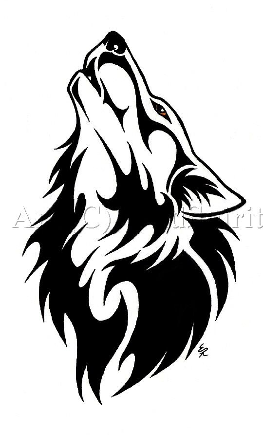 726f3204f Best Black Tribal Wolf Tattoo Design | Drawing and painting | Tribal ...