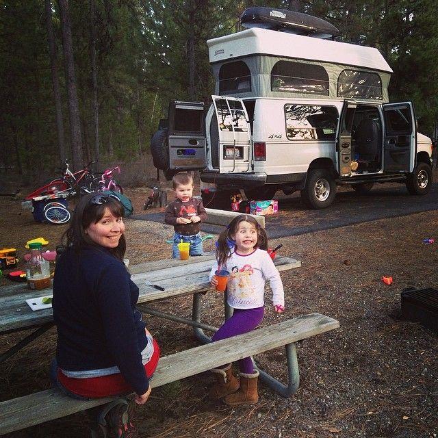 Van Life Glamping In LaPine State Park Camping Oregon Family Dinnertime