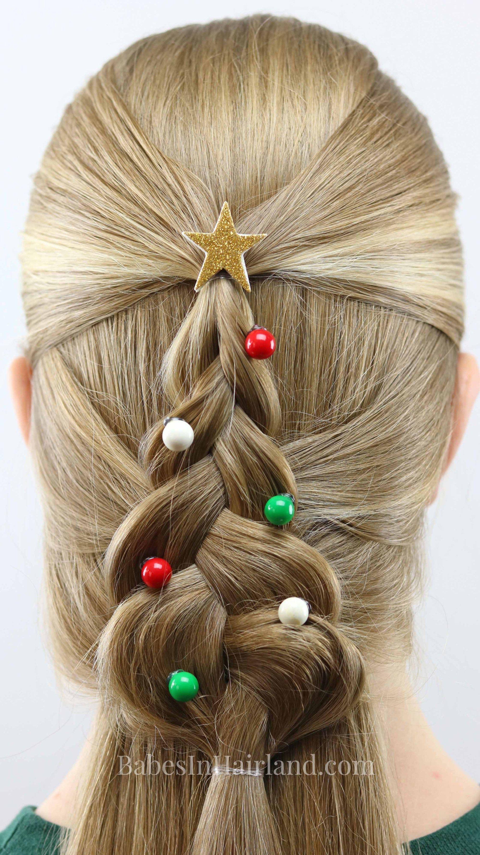 Mermaid braid christmas tree hairstyle mermaid braid school hair