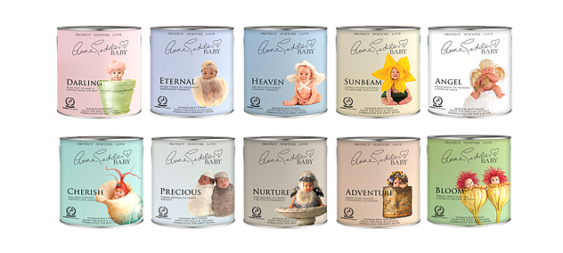 A range of 10 beautiful paint colors that nurture, protect and are safe for baby