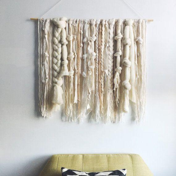 tapisserie murale ivoire et neutres fibres de tissage tissage pinterest tapisseries. Black Bedroom Furniture Sets. Home Design Ideas