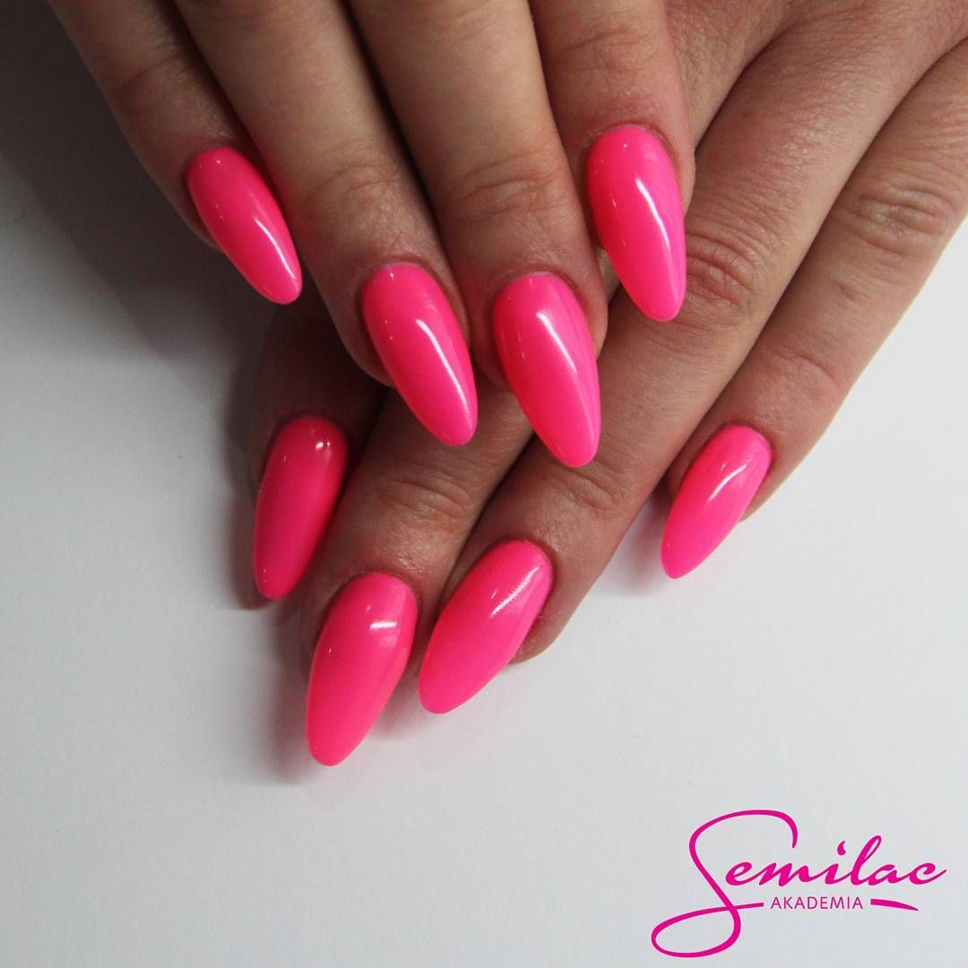 043 electric pink | semilac | Pinterest | Fall nail colors, Double ...