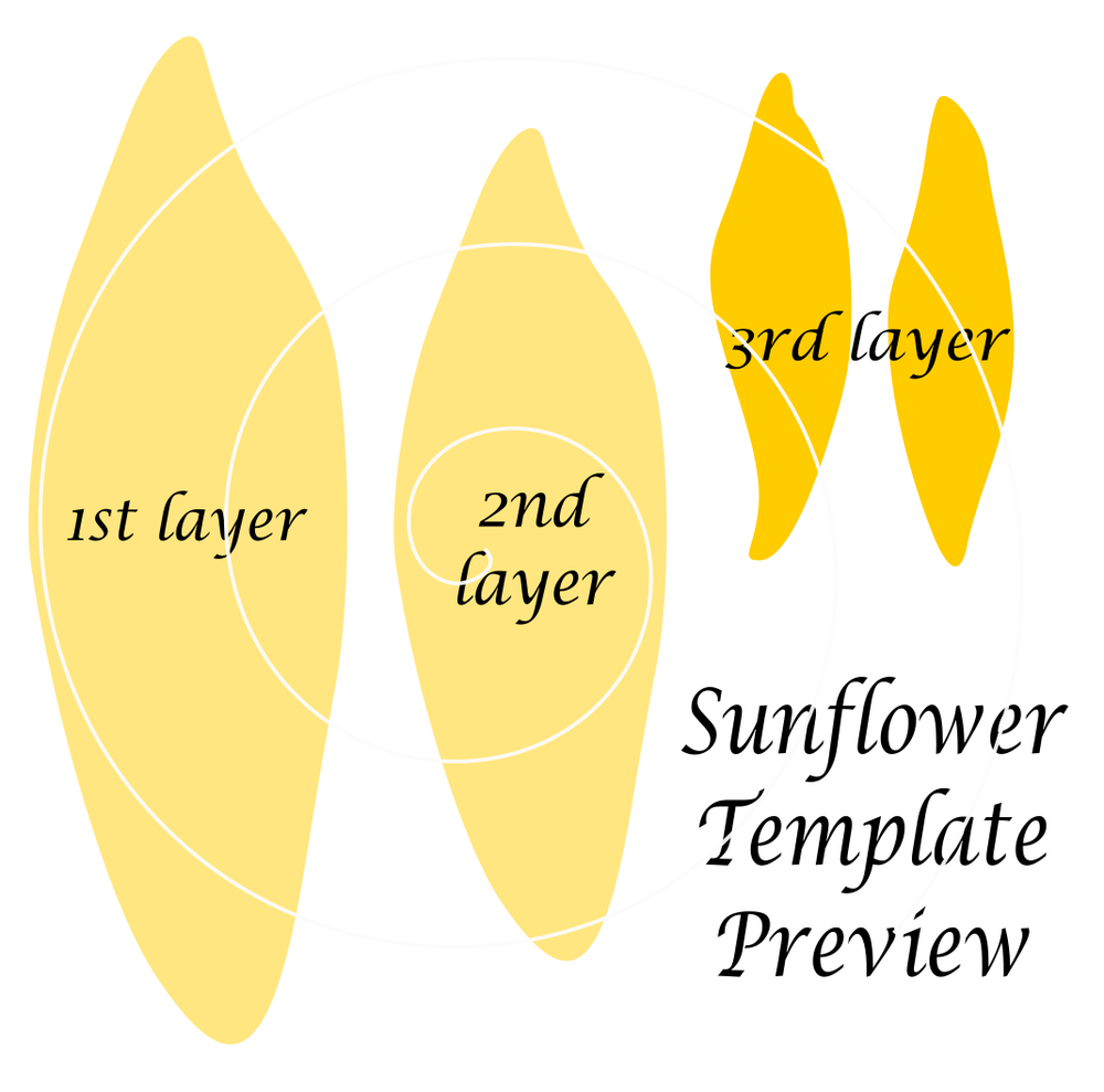 giant paper sunflower templates paper fabric etc flower s