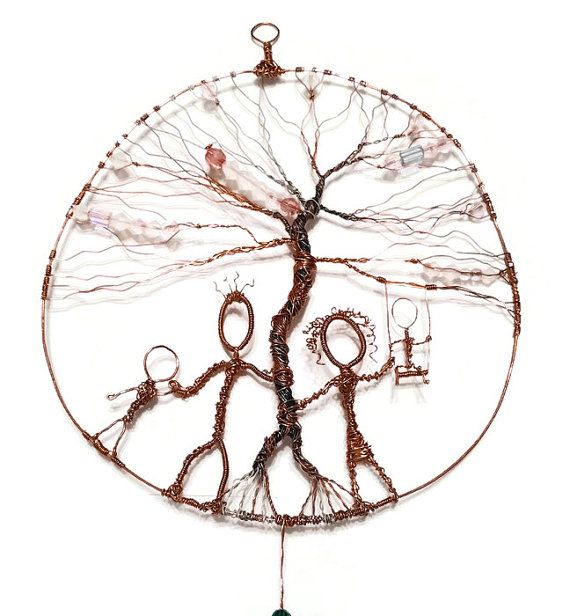 Sale Day at the Park - Tree of Life Copper Wall Hanging, Suncatcher