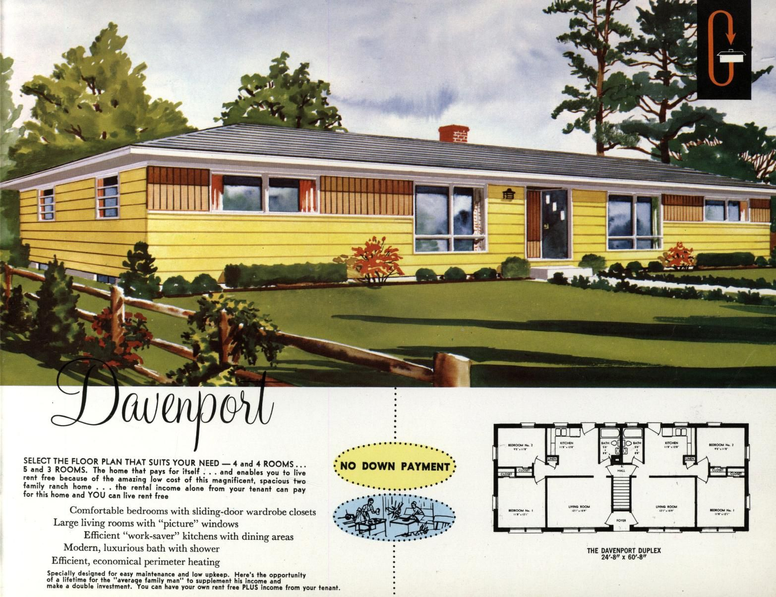 Grossman S Quality At Low Cost Homes L Grossman And Sons Inc Free Download Borrow And Streaming Internet Archive Vintage House Plans Mid Century Modern House Plans American Houses
