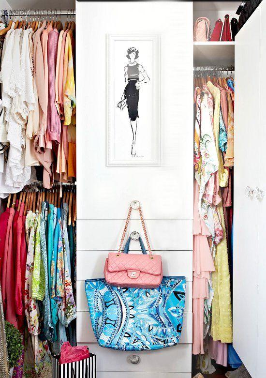 Closet of fashion illustrator Megan Hess, where she keeps