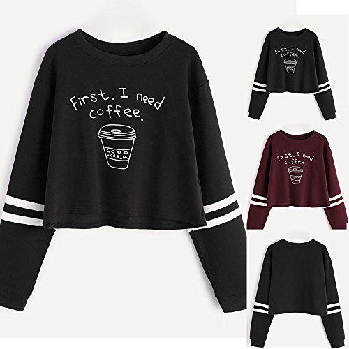 c3952cfea28aa Bonjouree Sweat Court Femme Imprimé Lettre   Rose Sweat-shirt Ado Fille  Pull Chic