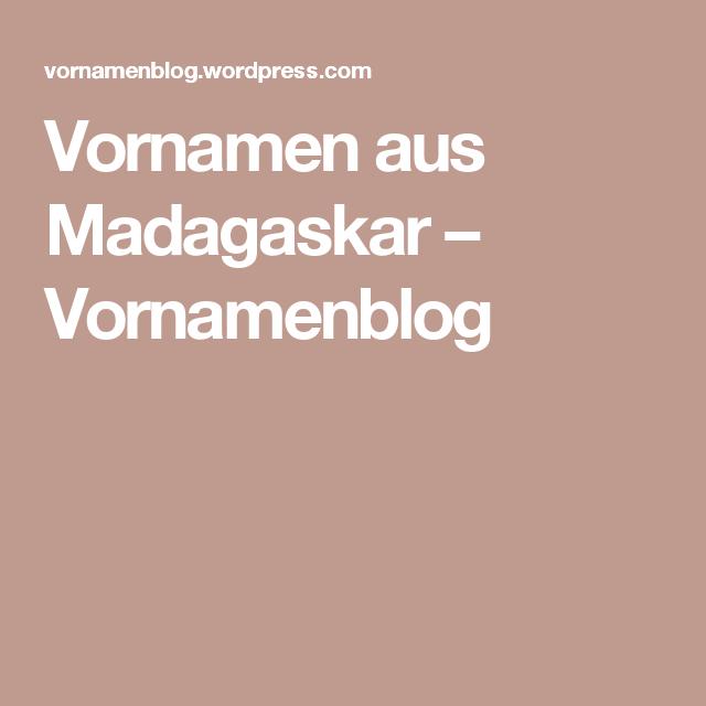 Vornamen Aus Madagaskar Kinder