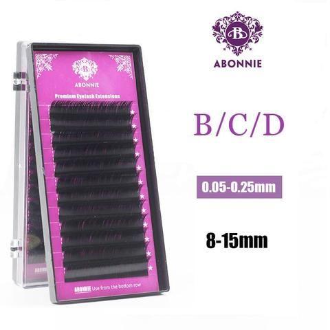 46da2f251c9 Abonnie makeup Lashes 0.03-0.25 12 Lines 8-15 tray Individual Eyelash  Extension Natural Long Artificial Fake False Eyelashes