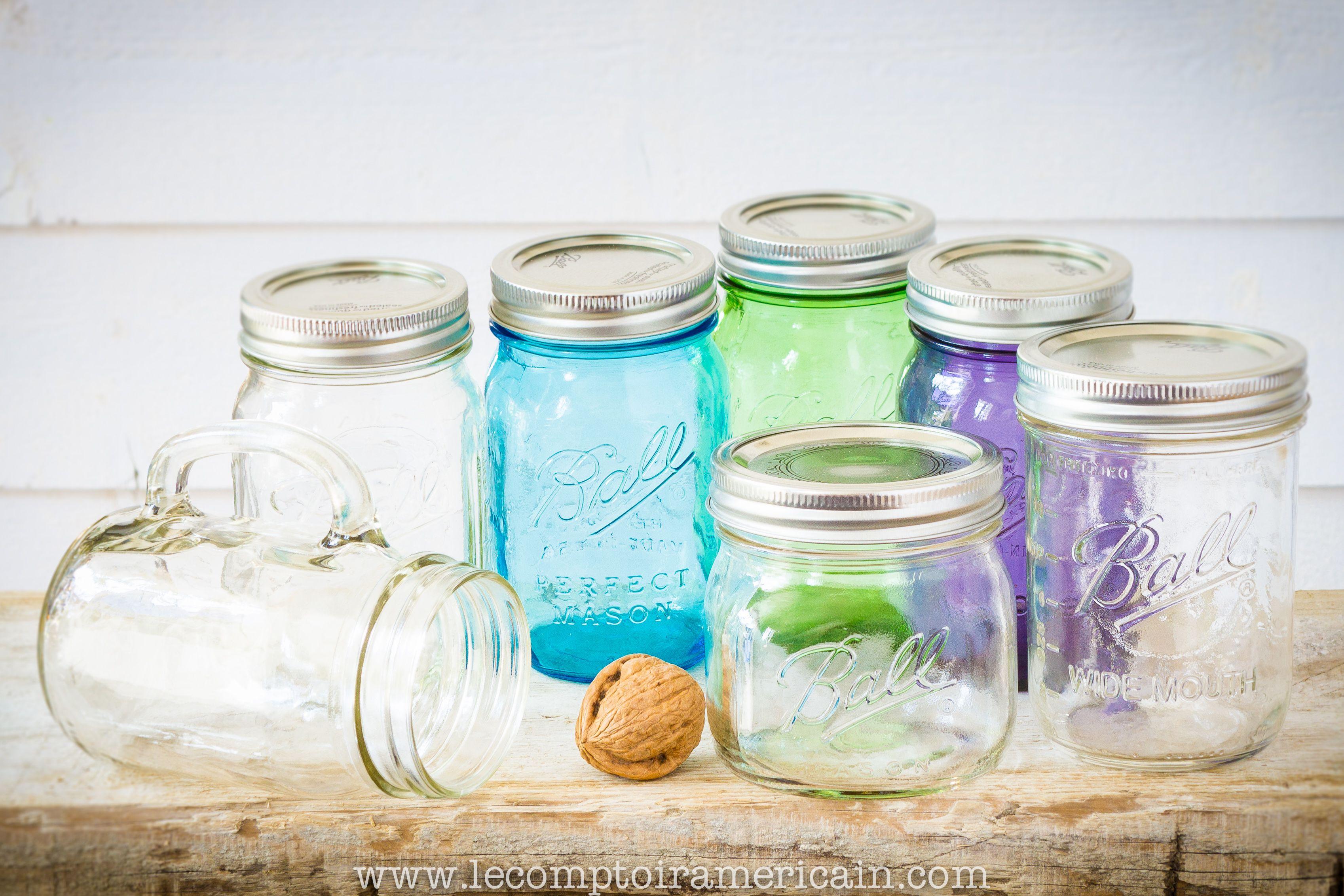 Bocaux Mason Jar #madeinUSA #americanproduct #americanmade #lecomptoiramericain #Mason #jar #ball #ker #bocaux #bocal #verre #mug #16oz