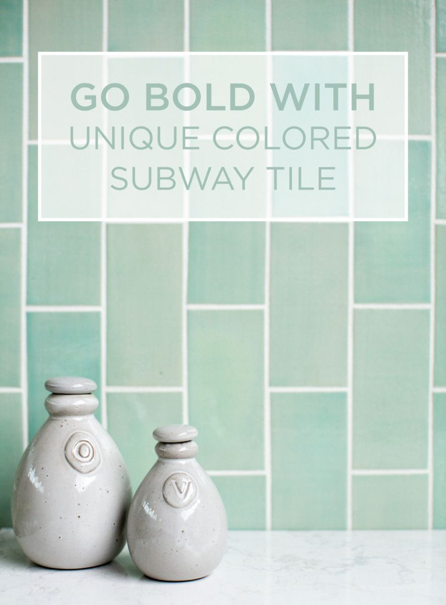 Go bold with unique colored subway tile subway tiles bald go bold with unique colored subway tile on the blog now dailygadgetfo Images