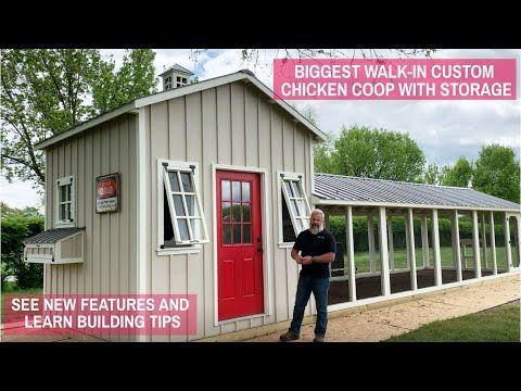 Biggest Walk In Custom Chicken Coop with Storage