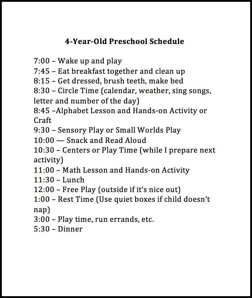 Weekly Preschool Planner | Preschool schedule, Circles and 4 year olds