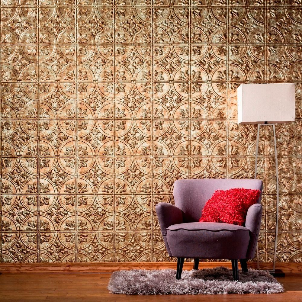 in x in traditional decorative wall panel in brushed