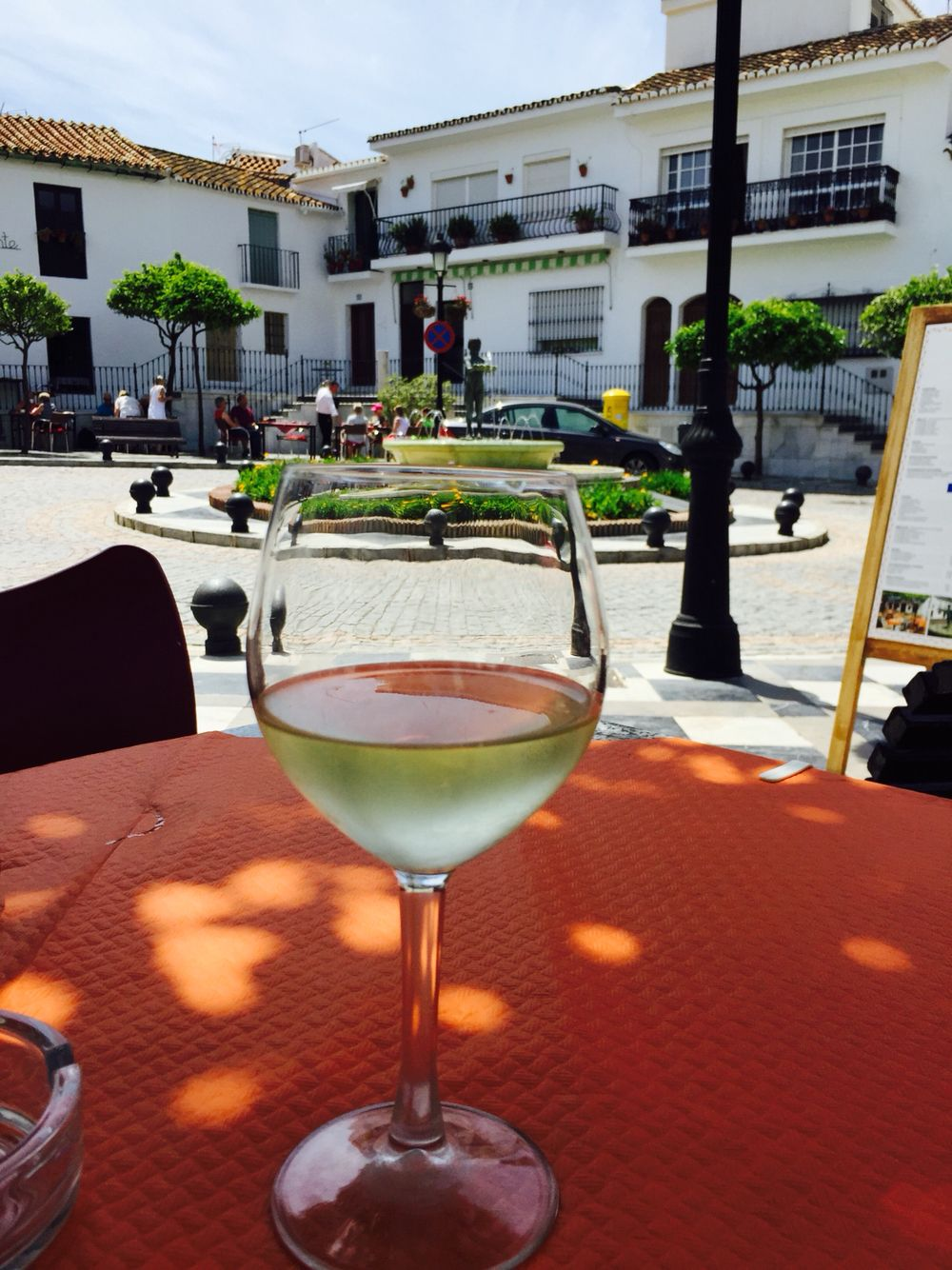 Benalmadena Pueblo White Wine Coupe Glass Champagne Coupes