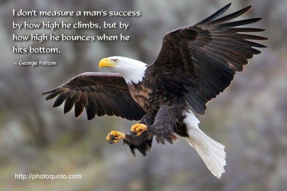 Eagles Inspirational Quotes Dont Measure A Mans Success By How