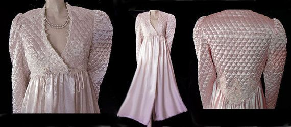 Vintage Jonquil Diane Samandi Quilted Satin by TAHITIBLOSSOM ... 13fead2ea