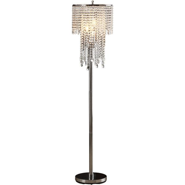 3 Light Floor Lamp Impressive Cortona 3 Light Crystal Floor Lamp Reviews ❤ Liked On Polyvore Decorating Design