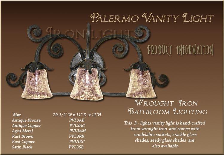 Palermo Vanity 3 Lights With Images Iron Lighting Iron