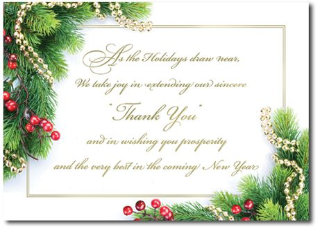 Business Holiday Cards Express The Joy Of Saying Thank You During