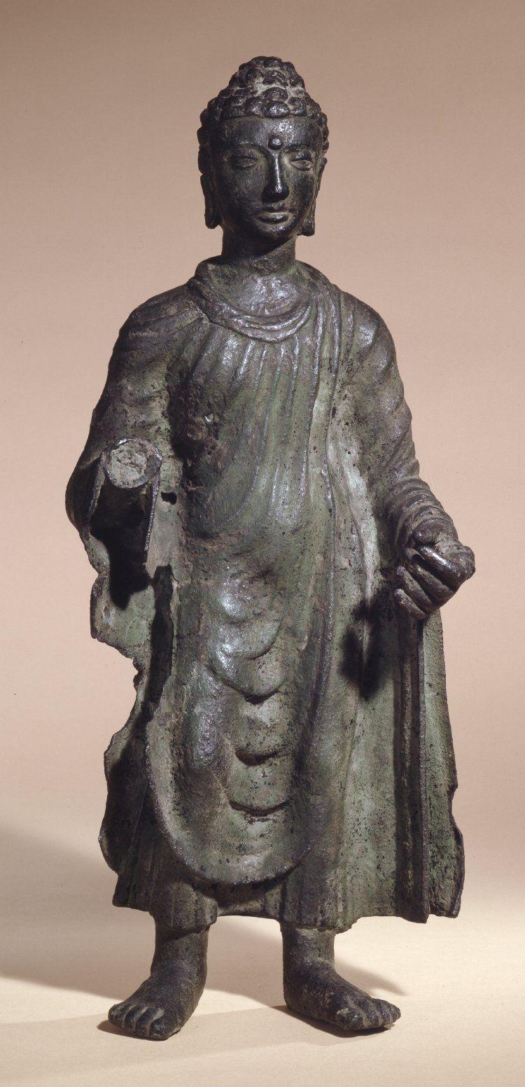 4th 5th Century Pakistan Gandhara School Kushan Empire Buddha Bronze 41 6 Cm At British Museum Buddhist Art Asian Sculptures Buddhist