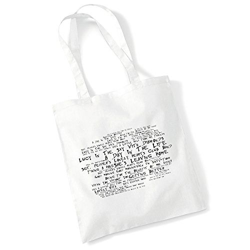 Art Studio Tote Bag BIFFY CLYRO Lyrics Print Album Poster Gym Beach Shopper Gift
