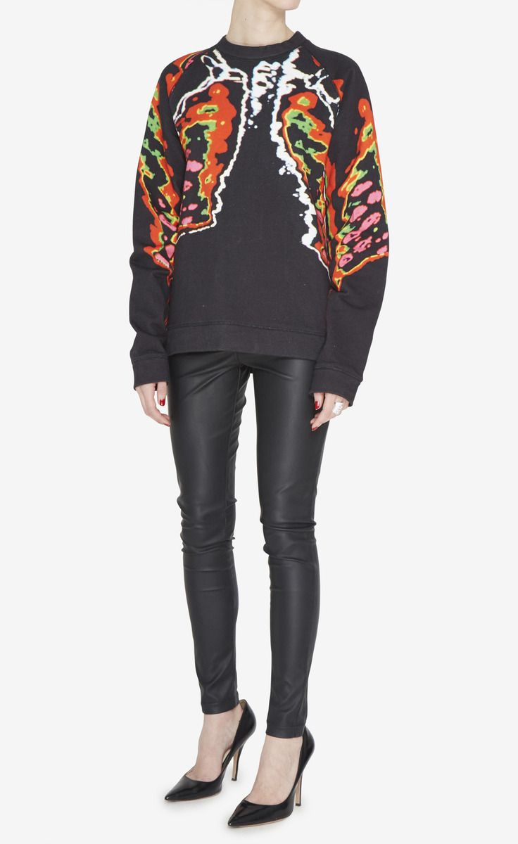 Christopher Kane Black, Red And Multicolor Sweater
