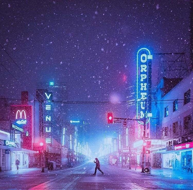 Snow falling in Granville B.C. outrun (With images