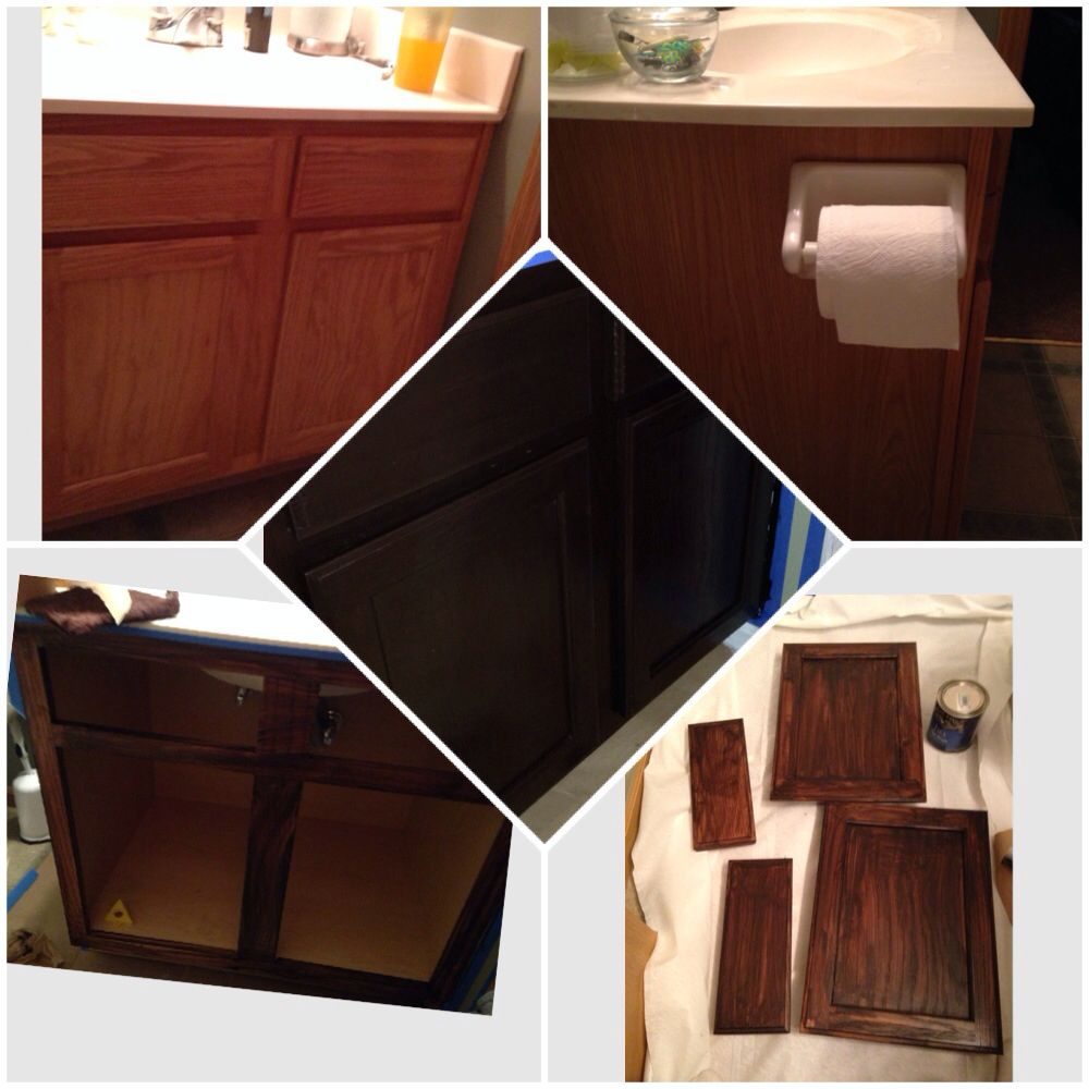 Gel Staining Kitchen Cabinets: Projects I Have Completed From