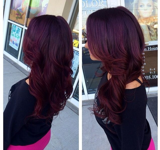 Purple Red Hair Color | ... hair dark highlights for brown ...