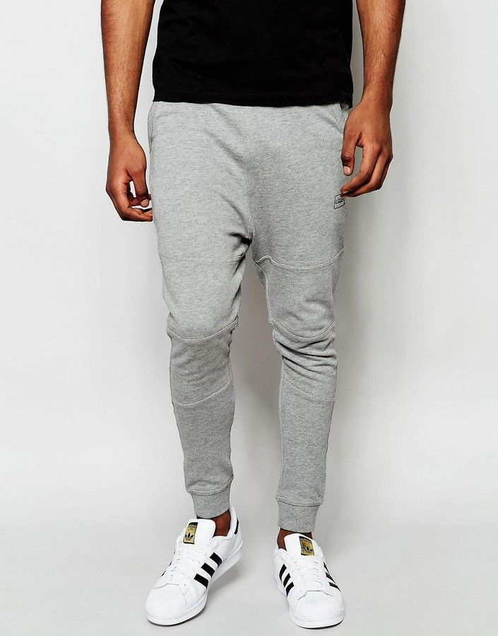 Jack & Jones Core Drop Crotch Joggers at asos.com