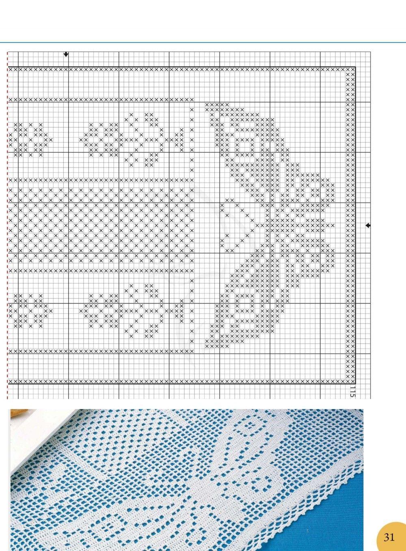 Pin de Socorro Arreola en Mantas de ganchillo | Filet crochet ...