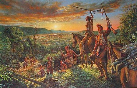 Victorious Indians Return To Fort Duquesne After Braddock