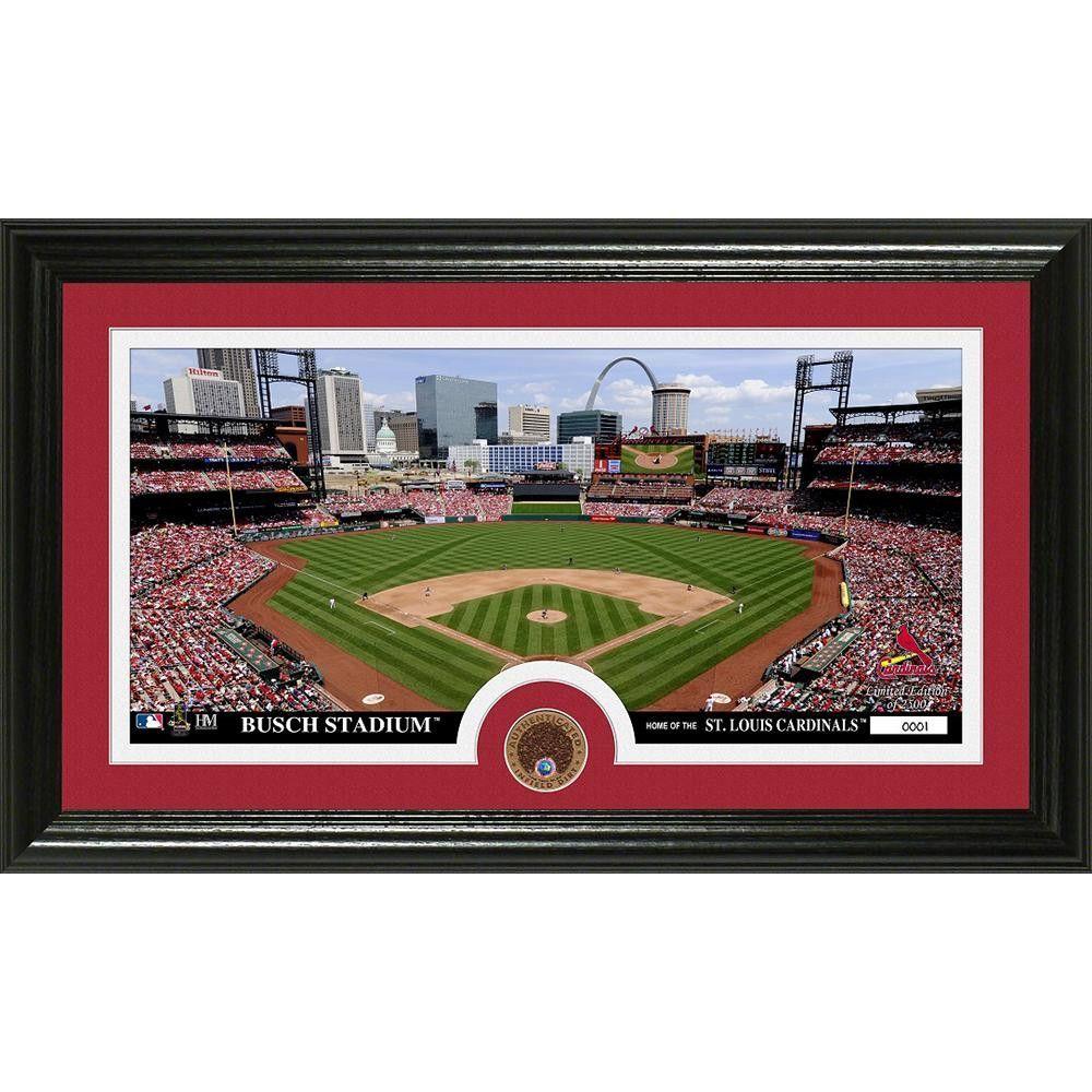 St Louis Cardinals Infield Dirt Coin Panoramic Photo Mint Cardinals St Louis Cardinals Stl Cardinals