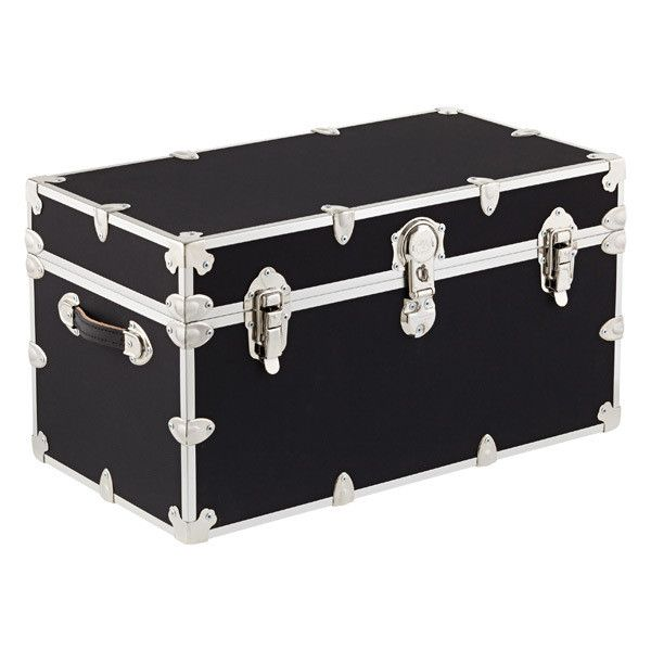 Locking Trunk with Wheels The Container Store ❤ liked on Polyvore